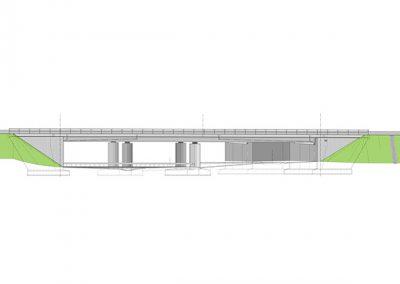 Bauwerk 01.207 Ersatzneubau im Zuge des vierstreifigen Ausbaus der B 207 über K 42, zwischen Heiligenhafen Ost und Puttgarden