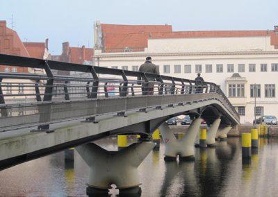 Bauwerk 225 Neubau einer Fußgängerbrücke über die Obertrave, Lübeck