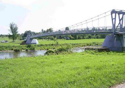 Fußgängerhängebrücke über die Zwickauer Mulde, Rochlitz