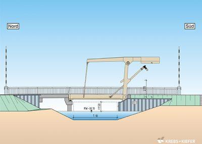 Neubau Klappbrücke im Zuge der B109, Zerpenschleuse