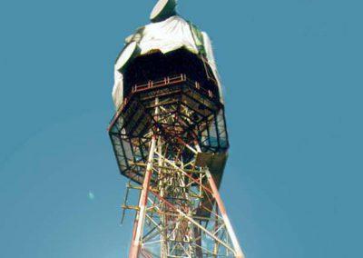 Instandsetzung und große Turmprüfung Funkmast Arkebek, Arkebek (Dithmarschen)