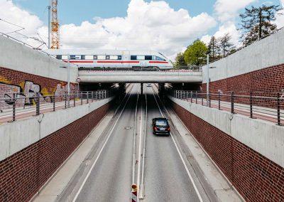 Aufhebung der Bahnübergänge Hammer Straße, Herstellung von Ersatzanlagen, Hamburg