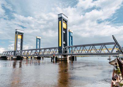 Neue Bahnbrücke Kattwyk