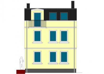 Aufstockung eines Einfamilienhauses und energetische Sanierung, Lübeck