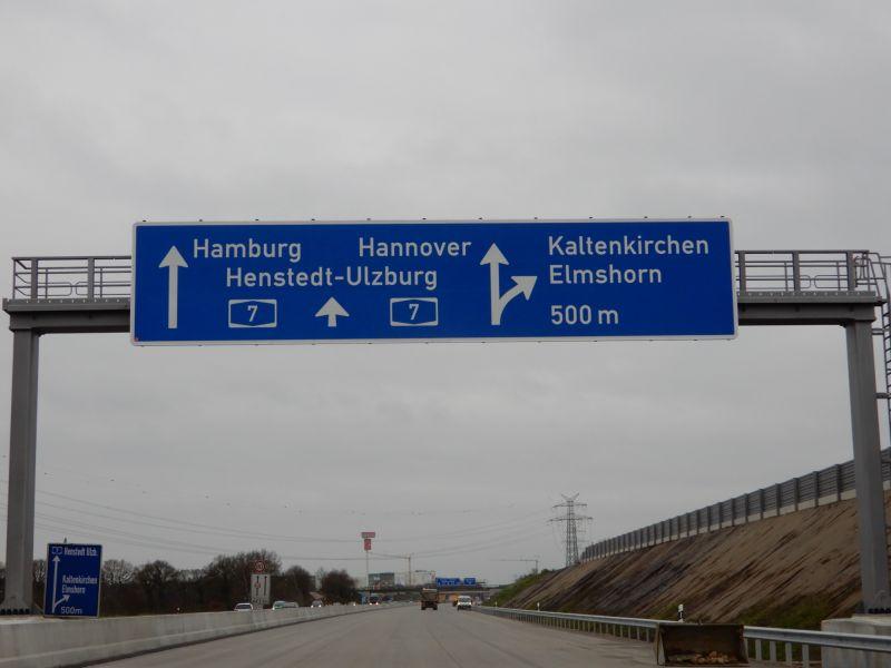 A7 Erweiterung nördlich von Hamburg