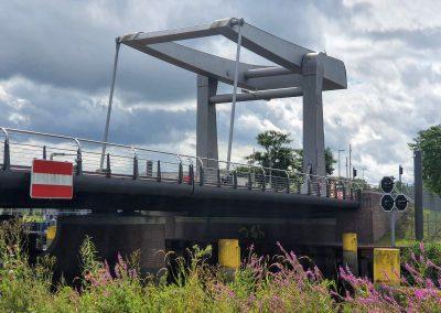 Käpten-Jürs-Brücke im Zuge der Hafenspange über die Krückau, Elmshorn