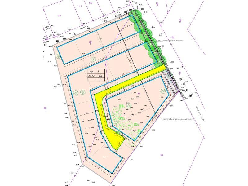 Planzeichnung vorhabenbezogener Bebauungsplan Lindengarten Penig