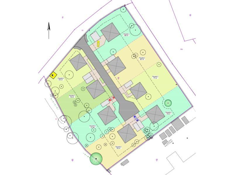 Gestaltungsplan als Fortentwicklung der Planzeichnung des B-Plans, Sandstraße, Chemnitz
