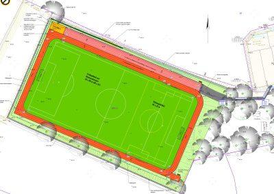 Neugestaltung der Außensportanlage an der Turnhalle Albertsburg in Burgstädt