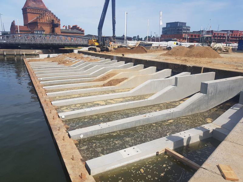 Wassertreppe Lübeck, Bauzustand